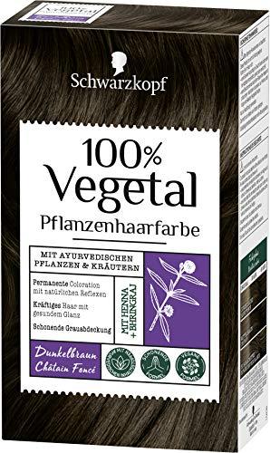 Schwarzkopf 100 Prozent Vegetal Dunkelbraun pflanzliche Haarfarbe