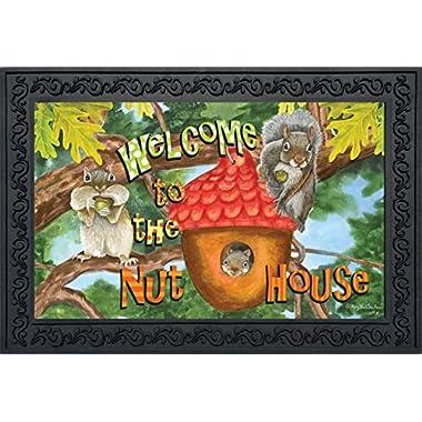 Welcome to the Nut House Summer Doormat Indoor Outdoor Humor Squirrels 18  x 30