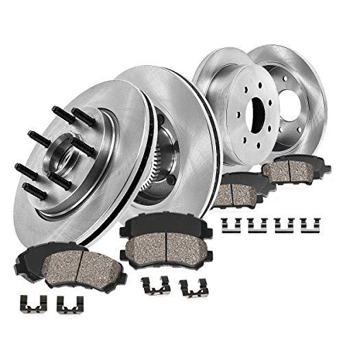 Callahan FRONT 308 mm + REAR 334 mm Premium OE 7 Lug [4] Rotors + [8] Ceramic...