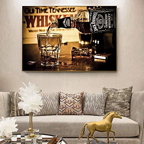 Geiqianjiumai whisky-posters en muurschilderijen op canvas, versierd met frameloze schilderijen, moderne wooncultuur