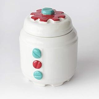 Azucarero de Cerámica Artesanal, Más colores disponibles, diseño mecánico con engranajes y tornillos - h 10,5 x Ø 8cm (Tur...