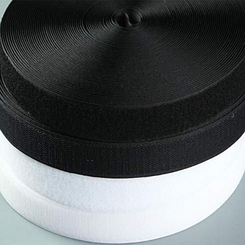 25mm-150mm breedte klittenband nylon magische tape diy wit en zwart naai tape voor babykleertjes schoenen zonder lijm 1m, 3cm wit