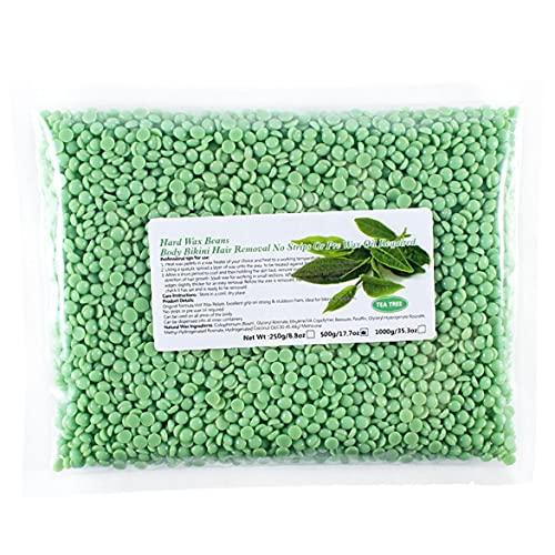 AtheMeet Frijoles Liddy Cuerpo de Cera depilatoria removedor del Pelo del Creciente Pellets Frijoles película sólida árbol de té