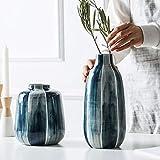 JSF 1 Pieza Azul jarrón de Flores resaltado Minimalista cerámica...