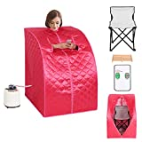 Giantex Portable 2L Steam Sauna Spa Full Body Slimming Loss Weight Detox Therapy w/Chair