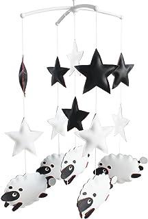 suspendus jouets PU Nursery rotatif mobile musical [moutons et étoiles]