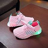 LED Sport Schuhe für Kinder,Candy Farbe LED Licht Lampe Freizeitschuhe Sportschuhe Helle Helle Schuhe,Mädchen Jungen Sneakers Laufschuhe Turnschuhe Blinkschuhe Schuhe Für Mädchen (Pink, 24)