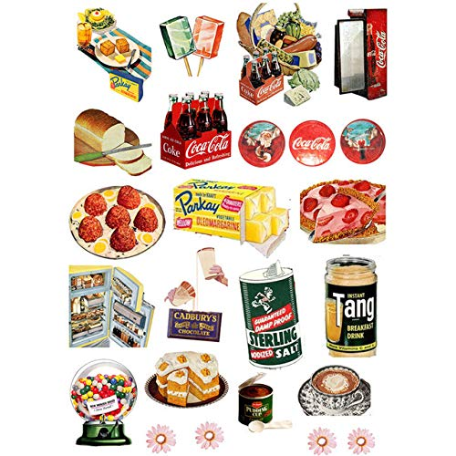 Mdsfe 2 PCS Classic Fast Food Logo Etikett Deko DIY Planer Aufkleber Pack Tagebuch Agenda Ästhetischer Aufkleber Nettes Briefpapier Schulmaterial vv - sz04415