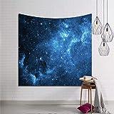 Brandless Mystic Galaxy Universe Nebula Star Tapestries Headboard Art Decoración para el hogar Dormitorio Sala de Estar Dormitorio TV Telón de Fondo