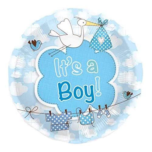 Folienballon Geburt Ist a Boy Junge blau Heliumballon 43 cm Ballon