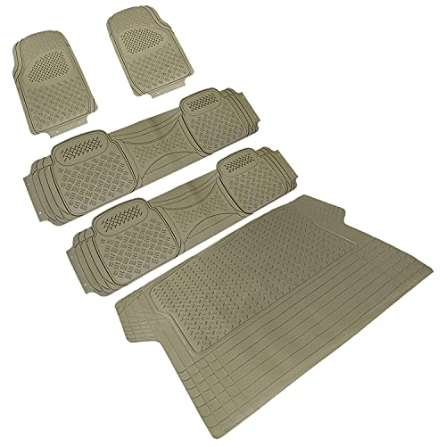 Spec-D Tuning Universal Fitment 5 Piece Beige Heavy Duty All Weather 3D Rubber...