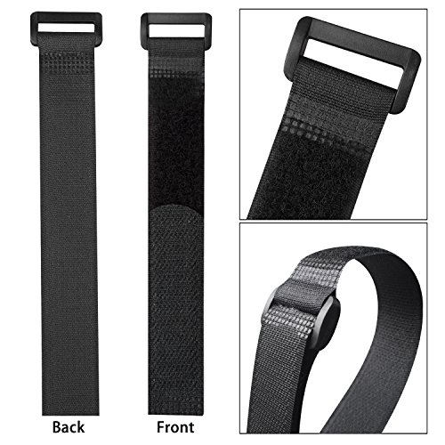 """CandyHome 20pcs Reusable Fastening Cable Straps and Cable Ties Set(8""""-12""""-18""""- 24""""), Adjustable Multipurpose Hook and Loop Securing Straps for Cord Management"""