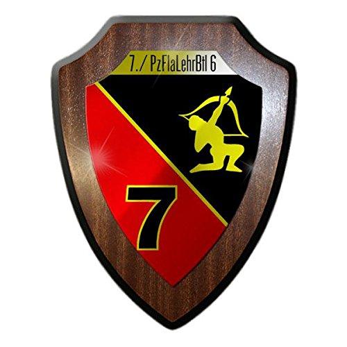 Copytec Wappenschild 7 PzFlaLehrBtl 6 Panzerflaklehrbataillon Todendorf Bundeswehr Abzeichen Wappen Flak-Panzer Gepard Andenken #21681