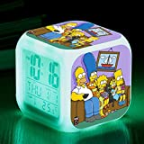 N/Z Gifts for childrenThe Simpsons Colorful Color Alarm Clock LED Mute Small Alarm Clock Gift Quartet,Number 13