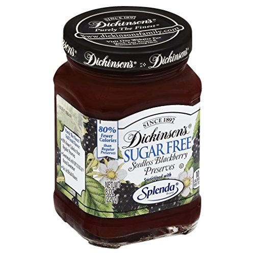 Dickinson s, Sugar Free Seedless Blackberry Preserves with Splenda, 8 Oz