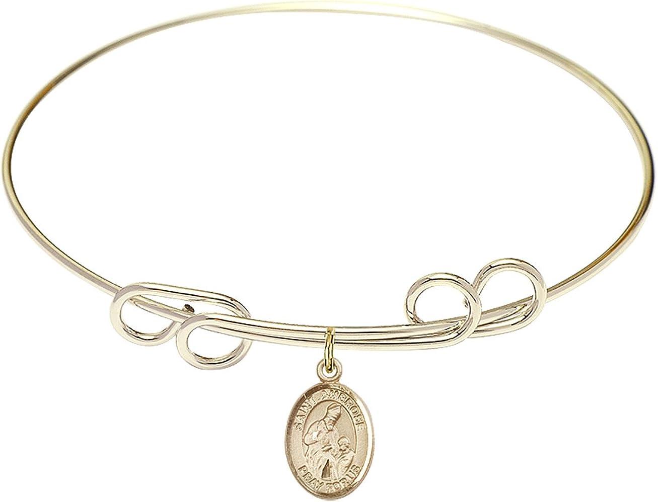 Special sale item DiamondJewelryNY Double Loop Bangle Max 43% OFF Bracelet Ambrose St. with a