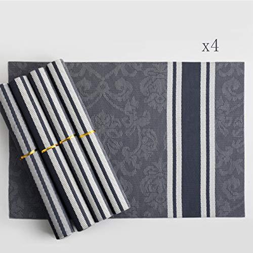 Miss Chang geïsoleerde tafelmat Western Food Mat Plaat Home Shell mat mat tafel mat poster 4 stuks 2 stuks Bx4