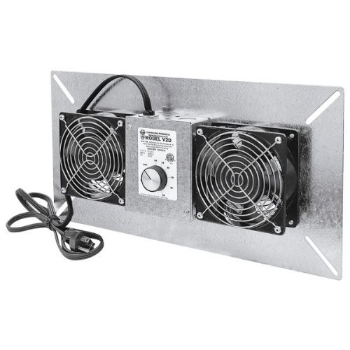 Tjernlund V2D UnderAire Crawlspace Ventilator Fan Moisture Mold Reducing,220 CFM