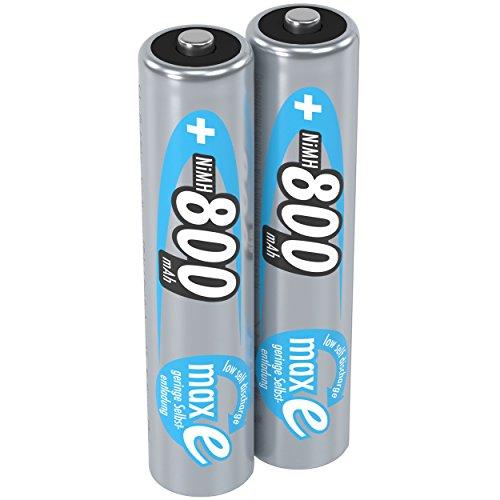 ANSMANN piles rechargeables AAA, 1,2V / 800mAh, NiMH - avec technologie maxE pour les appareils à forte consommation d'énergie / idéal pour les jeux électroniques, 2 unités