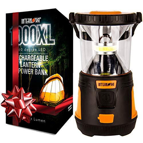Internova Rechargeable Camping Lantern Power Bank - Massive...