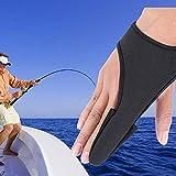 Vbestlife Anti-Rutsch-Angelhandschuh Professionelle EIN-Finger-Handschuhe Zeigefinger-Schutz Unisex-Gummiband-Handschuh für das Angeln im Freien