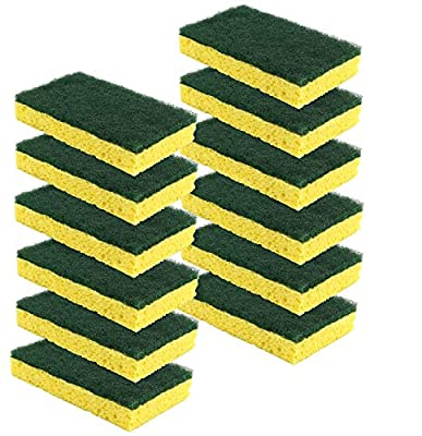 Scrub-It Heavy Duty Scrub Sponge - Made From Tough Cellulose - Non-Scratch - Eco Friendly - Lasts For Months Of Heavy Duty Kitchen Cleaning