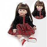 ZIYIUI Bambole Reborn Femmine24 Pollici 58cm Morbido Silicone Vinile Fatto A Mano Ragazza Bambole In Silicone Che Sembrano Vere Rinascita Bambola Giocattolo Regalo Di Compleanno Per Bambini
