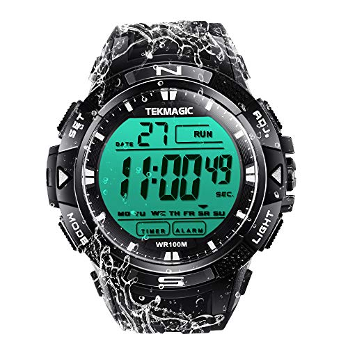TEKMAGIC 10 ATM Digital Submersible Diving Watch 100m Water Resistant Swimming...
