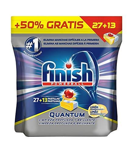 Finish Spülmaschinentabs Quantum Lemon 27+13 Dosen, mehrfarbig, Einheitsgröße