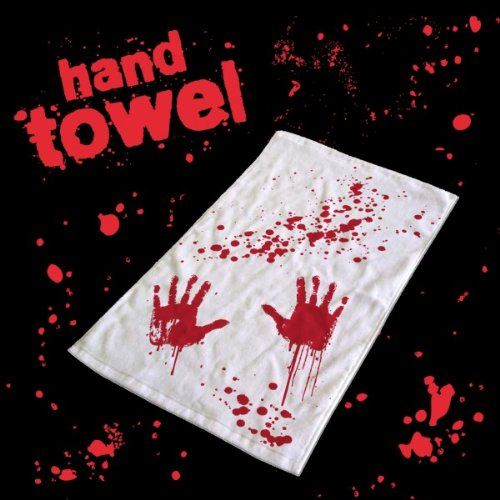 Vevendo toalla baño de sangre huellas de manos sangrientas Blood Bath toalla de mano