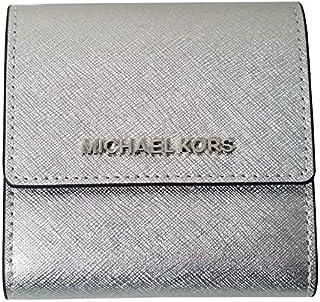 1e4e114d0455 Michael Kors Jet Set Travel Small Card Case Trifold Carryall Leather Wallet