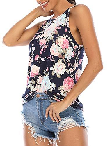 LouKeith - Camisetas sin mangas para mujer, sin mangas, con espalda cruzada - - Small