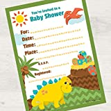Birthday Direct Lil Dinosaur 16ct Baby Shower Fill-in Invitations