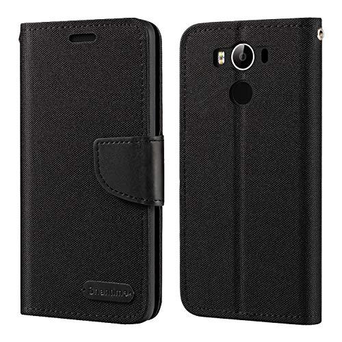 Elephone P9000 Hülle, Oxford Leder Wallet Hülle mit Soft TPU Back Cover Magnet Flip Hülle für Elephone P9000 Lite