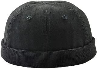 Unisex Skull Cap Sailor Cap Rolled Cuff Retro Brimless Beanie Hat