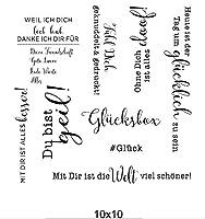 ドイツの透明な透明なシリコンスタンプ/DIYスクラップブッキング/フォトアルバム用のシール装飾的な透明なスタンプシートA1751