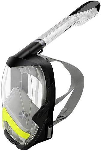 LAIABOR Masque de Plongée Snorkeling Plein Visage 180° Visible Anti-buée Anti-Fuite sous-Marine Snorkel Masque pour Adultes