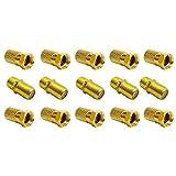 F-Stecker 7mm 10x + F-Verbinder 5X vergoldet | Gummidichtung | breite Mutter schraubbar | Verlängerung für Koaxial Antennenkabel Koax SAT Kabel | BK Anlagen | Satelliten LNB F Stecker + Verbinder Set