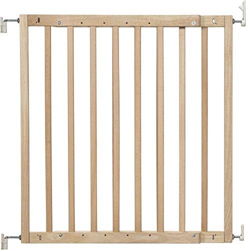 Badabulle Color Pop Treppen-/Türschutzgitter, zum Selbstaufbauen in nur 7 min, flexibel erweiterbar von 63,5 - 103,5 cm, naturfarben