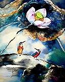 Pintura por números para niños y principiantes kit de pintura pintura acrílica de alta calidad pintura al óleo (sin marco) - dream lotus pond