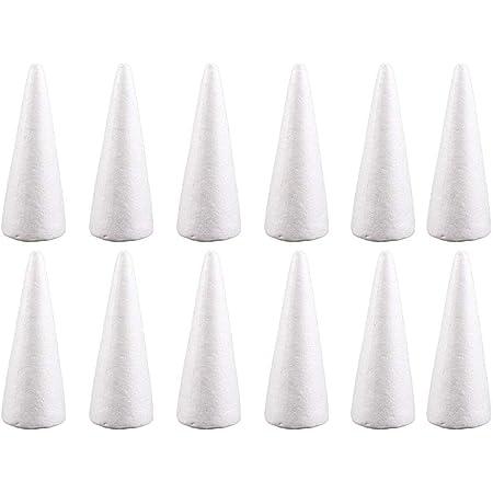 Gilroy 10Pcs DIY Material Modeling Foam Circular Cones Craft for Christmas Xmas Decor