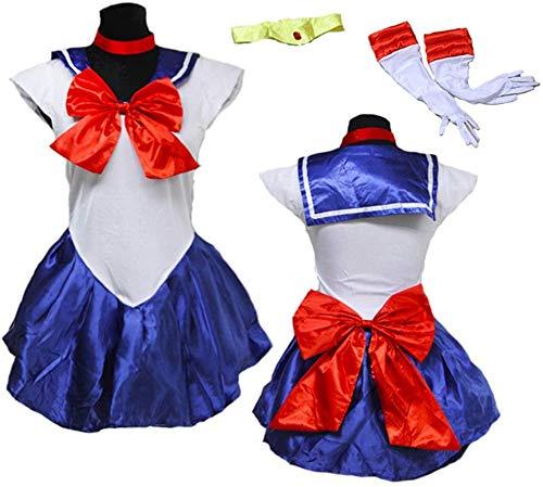 Baipin Disfraz De Sailor Moon Anime Cosplay, Azul...