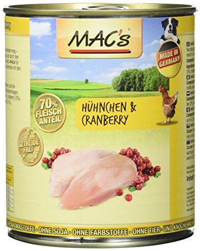 MAC's Hühnchen & Cranberry, 6er Pack (6 x 800 g)