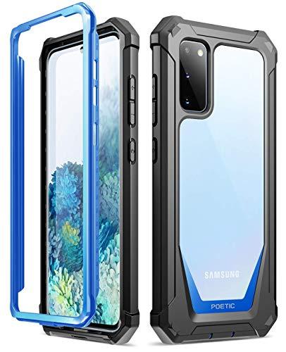 Poetic Samsung Galaxy S20 Coque,Coque Guardian Noire pour Le Samsung Galaxy S20, Boitier de Protection Hybride Solide et Robuste avec [Verso Résistant aux Rayures],Bleu