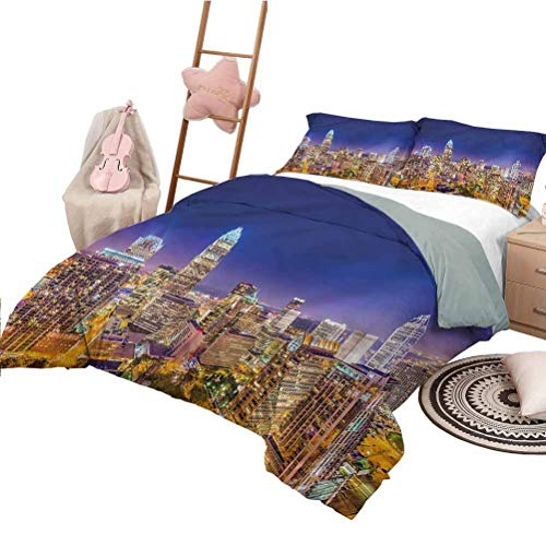 Nomorer 3 Piece Bedding Sets King Size Modern Modern Style Lightweight Durable Panoramic Uptown Sky Night