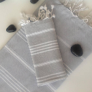 Bath Set of Turkish towel Peshtemal and Peshkir Pure Natural