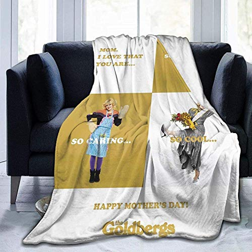 'N/A' WJOOM The Funny Gold-Bergs Flannel Fleece Blanket Cozy Warm Super Soft Fluffy Luxury Blanket-Lightweight All Season for Bed/Couch/Sofa/Office/Camping 50' X40