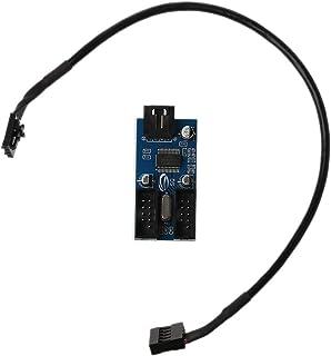 okstylerty マザーボード パソコン・周辺機器 PC 配線アクセサリーデスクトップマザーボードUSB 9ピン延長ケーブル1点2