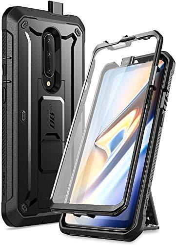 SUPCASE OnePlus 7 Pro Hülle 360 Grad Handyhülle Bumper Case Robust Schutzhülle Cover [Unicorn Beetle Pro] mit Integriertem Displayschutz und Gürtelclip für OnePlus 7 Pro 2019 (Schwarz)