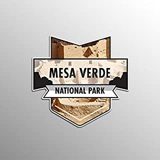 JMM Industries Mesa Verde National Park Vinyl Decal Sticker Car Window Bumper 2-Pack 4.7-Inches by 4.4-Inches Premium Qual...